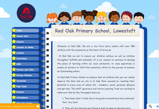 Website redoakprimaryschool.co.uk desktop preview