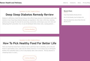 Website renewmyhealth.org desktop preview