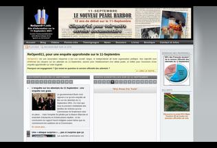 Website reopen911.info desktop preview