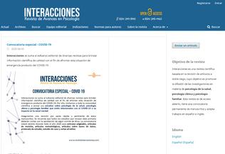 Website revistainteracciones.com desktop preview