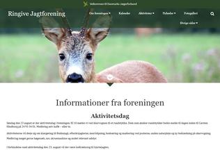 Website ringivesognsjagtforening.dk desktop preview