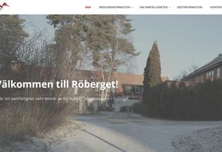 Website roberget.se desktop preview
