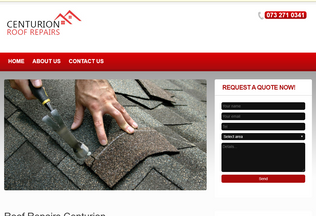 Website roofrepairs-centurion.co.za desktop preview