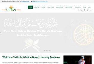 Website roshniquranacademy.com desktop preview