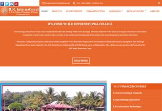 Website rrinternationalcollege.in desktop preview