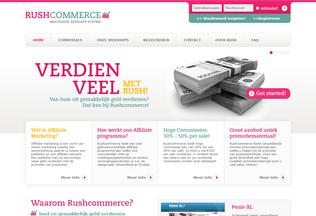 Website rushcommerce.com desktop preview