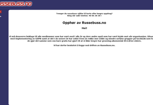 Website russebuss.no desktop preview