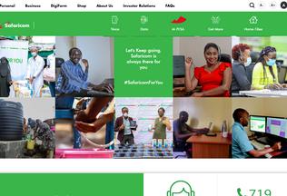 Website safaricom.co.ke desktop preview