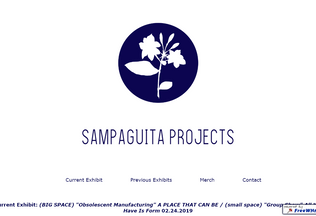 Website sampaguitaprojects.ml desktop preview