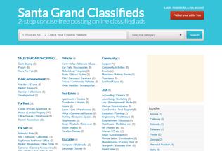 Website santagrand.com desktop preview