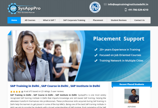 Website saptraininginstitutedelhi.in desktop preview