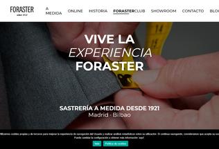 Website sastreriaforaster.es desktop preview