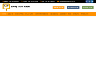 Website savinggracetutors.co.za desktop preview