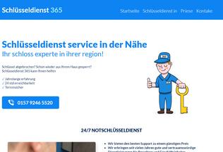 Website schluesseldienst365.de desktop preview