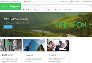 Website schneider-electric.com desktop preview