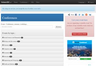 Website sciencedz.net desktop preview