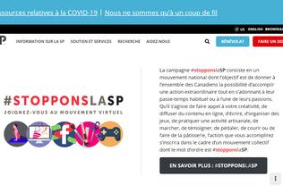 Website scleroseenplaques.ca desktop preview