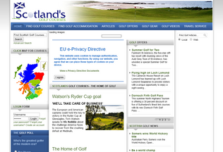 Website scotlands-golf-courses.com desktop preview