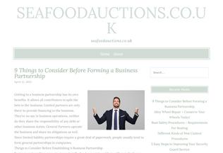 Website seafoodauctions.co.uk desktop preview