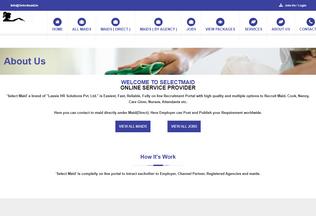 Website selectmaid.in desktop preview