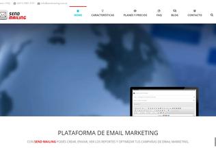 Website sendmailing.com.ar desktop preview
