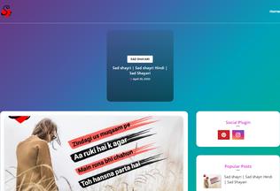 Website shayaris.net desktop preview