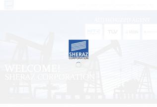 Website sherazcorporation.net desktop preview