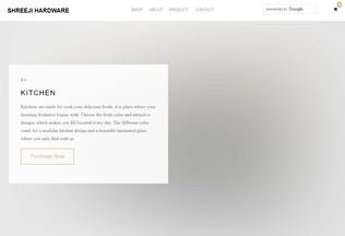 Website shreejihardware.in desktop preview