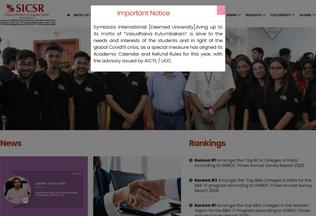 Website sicsr.ac.in desktop preview