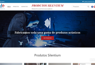Website silentium.pt desktop preview