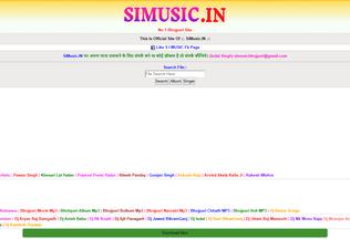 Website simusic.in desktop preview