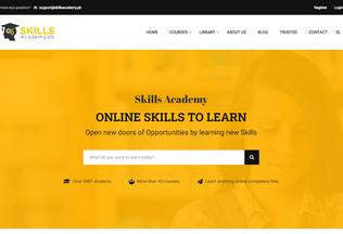 Website skillsacademy.pk desktop preview