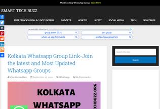 Website smarttechbuzz.org desktop preview