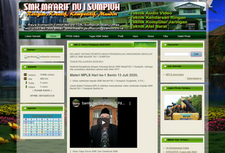 Website smkmaarifnu1sumpiuh.sch.id desktop preview