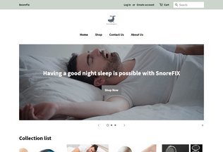 Website snorenights.com desktop preview