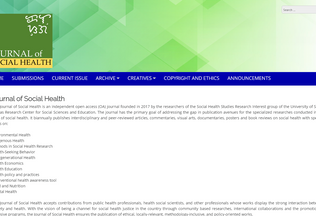 Website socialhealthjournal.org desktop preview