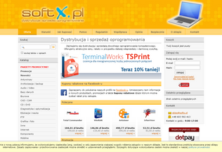 Website softx.pl desktop preview
