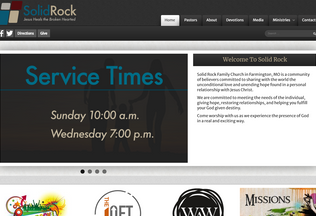 Website solidrockfamilychurch.org desktop preview