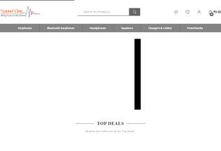 Website soundone.in desktop preview