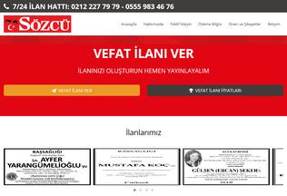 Website sozcuilan.com.tr desktop preview