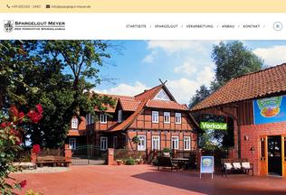Website spargelgut-meyer.de desktop preview