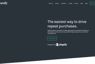 Website spently.com desktop preview