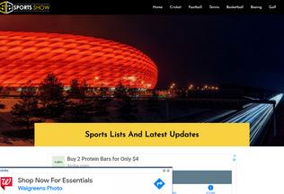 Website sportsshow.net desktop preview