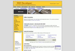 Website ssi-developer.net desktop preview