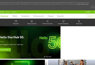 Website starhub.com desktop preview