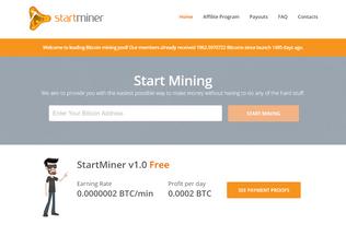 Website startminer.com desktop preview