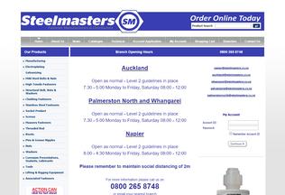 Website steelmasters.co.nz desktop preview