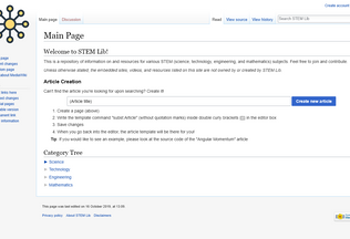 Website stemlib.net desktop preview