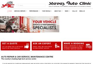 Website steves.co.za desktop preview