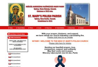 Website stmaryspolishparish.ca desktop preview